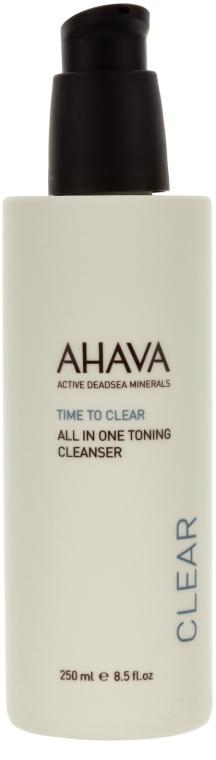 Tonic pentru față - Ahava Time To Clear All in One Toning Cleanser — Imagine N1
