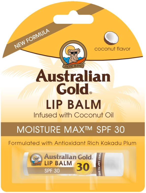 "Balsam de buze ""Cocos"" - Australian Gold Lip Balm Infused With Coconut Oil SPF 30 — Imagine N1"