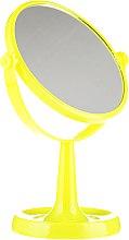 Parfumuri și produse cosmetice Oglindă suport 85734, rotundă, 15,5 cm, galbenă - Top Choice Colours Mirror
