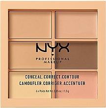 Parfumuri și produse cosmetice Paletă corectoare pentru față - NYX Professional Makeup Palette Conceal Correct Contour