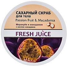 """Parfumuri și produse cosmetice Scrub pentru corp """"Fructele pasiunii și Macadamia"""" - Fresh Juice Passion Fruit & Macadamia"""