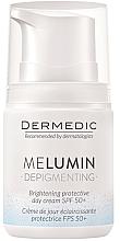 Parfumuri și produse cosmetice Cremă de zi împotriva petelor pigmentare - Dermedic MeLumin Depigmenting Cream SPF 50+