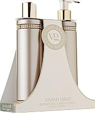 Parfumuri și produse cosmetice Set - Vivian Gray Brown Crystals Set (sh/gel/250ml + b/lot/250ml)