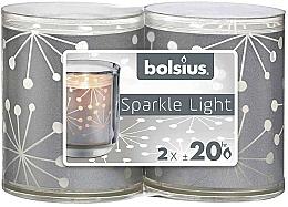 Parfumuri și produse cosmetice Lumânări cu suport - Bolsius Sparkle Lights Crystal Silver Candle