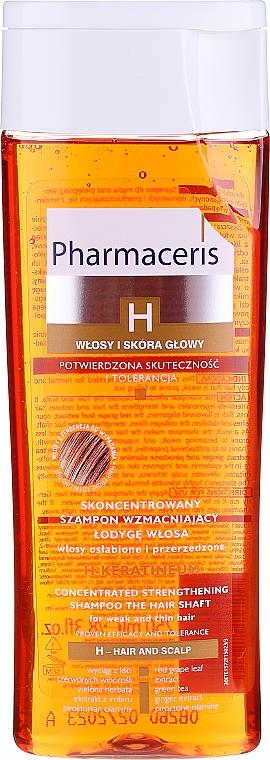 Șampon fortifiant pentru păr deteriorat - Pharmaceris H H-Keratineum Concentrated Strengthening Shampoo For Weak Hair — Imagine N1