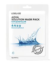 Parfumuri și produse cosmetice Mască din țesătură pentru față - Lebelage Aqua Solution Mask
