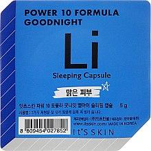 Parfumuri și produse cosmetice Mască-capsulă de noapte pentru față - It's Skin Power 10 Formula Goodnight Li Sleeping Capsule