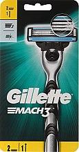 Aparat de ras clasic cu 2 casete rezervă - Gillette Mach3 — Imagine N1