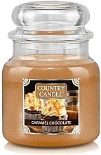 Parfumuri și produse cosmetice Lumânare aromatică, în borcan - Country Candle Caramel Chocolate