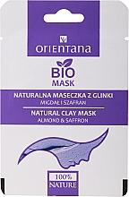 """Parfumuri și produse cosmetice Mască de față """"Migdale și Șofran"""" - Orientana Clay Face Mask Almond & Saffron (mostră)"""