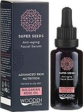 Parfumuri și produse cosmetice Ser pentru față - Wooden Spoon Super Seeds Bulgarian Rose Oil Anti-aging Facial Serum