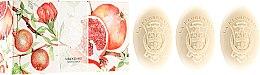 "Parfumuri și produse cosmetice Set săpunuri ""Rodie"" - La Florentina Pomegranate Soap"
