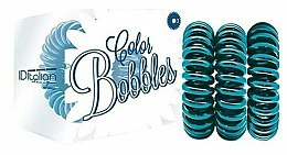 Parfumuri și produse cosmetice Elastice de păr, turcoaz - Iditalian Color Bobbles
