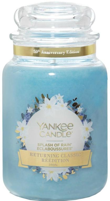 Lumânare aromată în borcan - Yankee Candle Splash Of Rain — Imagine N1