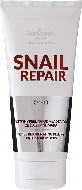 Peeling facial anti-îmbătrânire cu mucus de melc pentru față - Farmona Professional Snail Repair Active Rejuvenating Peeling With Snail Mucus