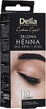 Parfumuri și produse cosmetice Gel vopsea pentru sprâncene, Black - Delia Eyebrow Tint Gel ProColor 1.0 Black