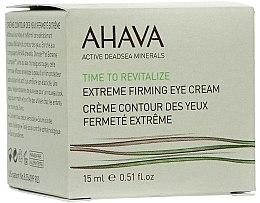 Parfumuri și produse cosmetice Cremă cu efect de întărire pentru zona ochilor - Ahava Time to Revitalize Extreme Firming Eye Cream
