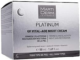 Parfumuri și produse cosmetice Cremă de noapte pentru față - MartiDerm Platinum Gf Vital Age Night Cream