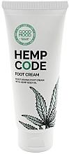 Parfumuri și produse cosmetice Cremă hidratantă cu ulei de cânepă pentru picioare, pentru piele uscată și normală - Good Mood Hemp Code Foot Cream