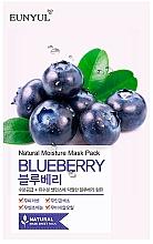 Parfumuri și produse cosmetice Mască din țesătură cu extract de afine pentru față - Eunyul Natural Moisture Blueberry Mask