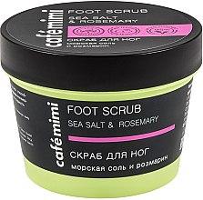 """Parfumuri și produse cosmetice Scrub pentru picioare """"Sare de mare și rozmarin"""" - Cafe Mimi Foot Scrub"""