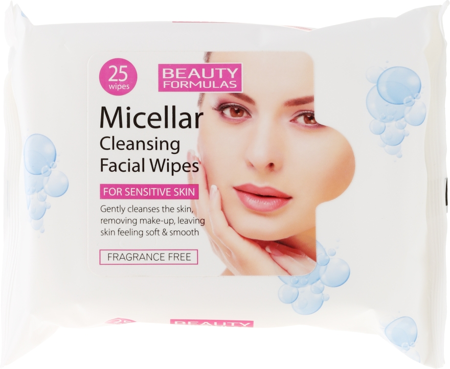 Șervețele demachiante micelare - Beauty Formulas Micellar Cleansing Facial Wipes