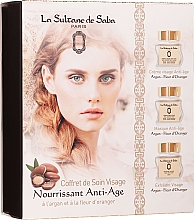 Parfumuri și produse cosmetice Set - La Sultane De Saba Bio Argan & Orange Blossom (f/cr/50ml + f/mask/50ml + f/exfoliant/50ml)