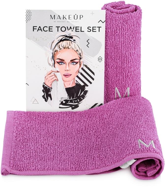 """Set de prosoape de față, pentru călătorii, mov """"MakeTravel"""" - Makeup Face Towel Set"""