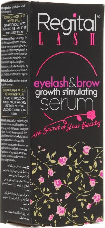 Ser pentru creșterea genelor și sprâncenelor - Regital Lash Eyelash & Brow Growth Stimulating Serum