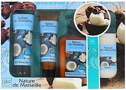Parfumuri și produse cosmetice Set - Nature de Marseille Cocos (sh/gel 100ml +cr/60ml + balsam 150ml + soap 90g)