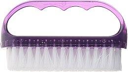 Parfumuri și produse cosmetice Perie cosmetică pentru unghii, 74752, violet - Top Choice