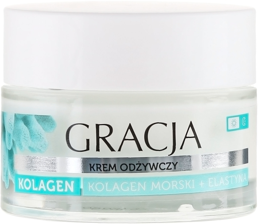 Cremă nutritivă antirid cu colagen marin - Gracja Sea Collagen And Elastin Anti-Wrinkle Day/Night Cream
