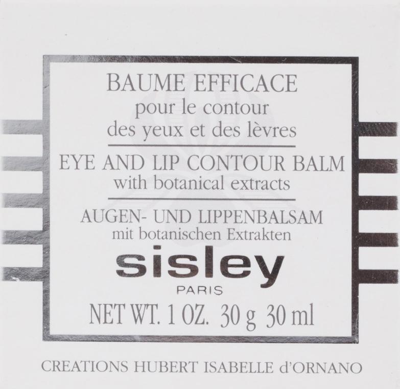 Balsam pentru conturul ochilor și buzelor - Sisley Baume Efficace Botanical Eye and Lip Contour Balm — Imagine N3