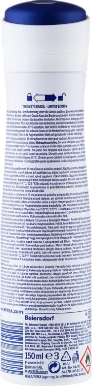 Deodorant-spray antiperspirant - Nivea Take Me To Brazil Spray — Imagine N2