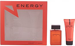 Parfumuri și produse cosmetice Concept V Design Energy Men - Set (edt/100ml + ash/balm/100ml)