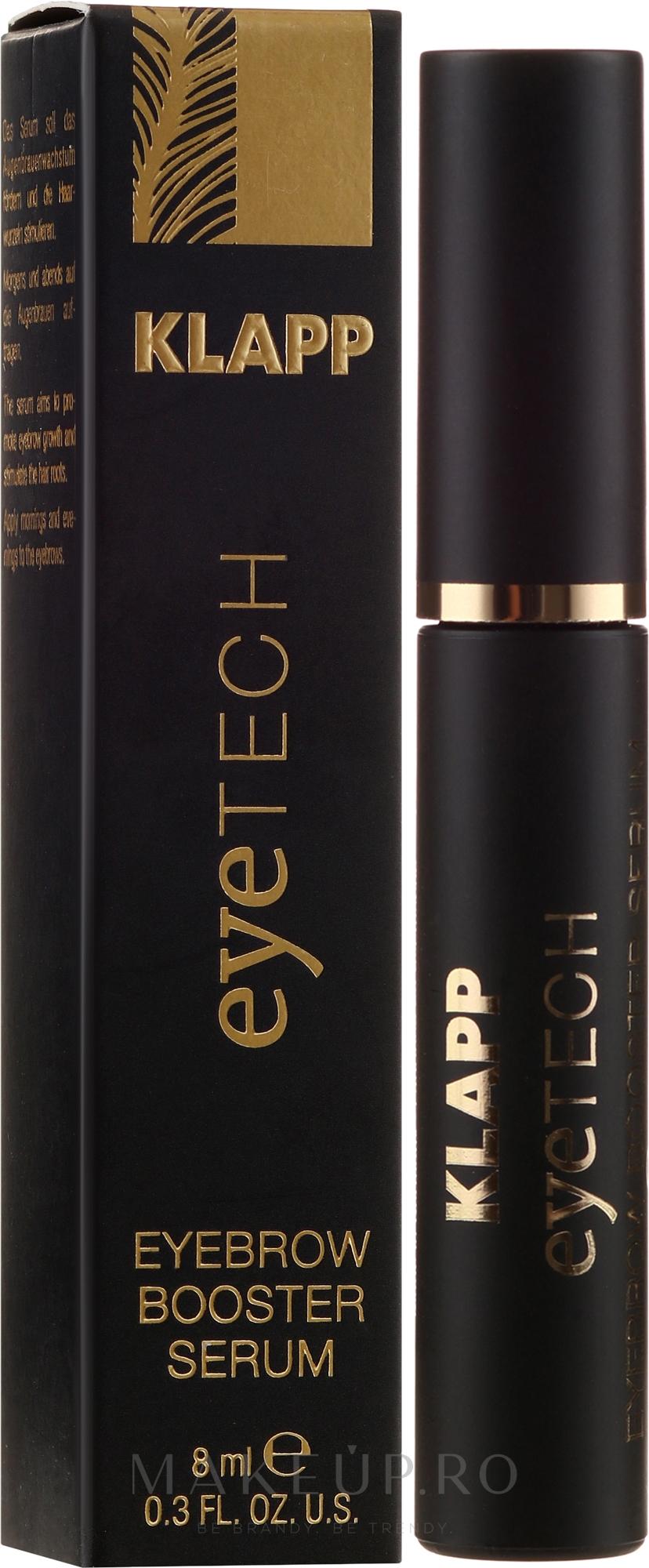 Ser pentru sprâncene - Klapp Eyetech Eyebrow Booster Serum — Imagine 8 ml