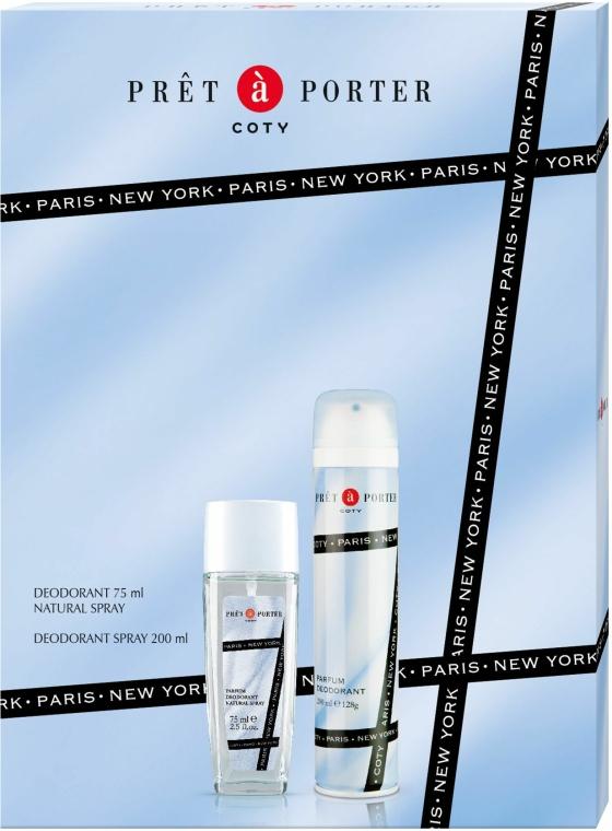 Coty Pret-a-Porter - Set (deo/spray/75ml + deo/200ml)