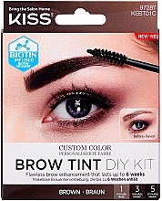 Parfumuri și produse cosmetice Tint pentru sprâncene - Kiss Brow Tint DIY Kit