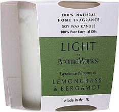 """Parfumuri și produse cosmetice Lumânare parfumată """"Lemongrass și Bergamotă"""" - AromaWorks Light Range Lemongrass & Bergamot Candle"""