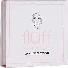 Parfumuri și produse cosmetice Piatră pentru masaj facial, roz - Fluff Gua Sha Stone