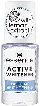 Parfumuri și produse cosmetice Lac de bază pentru unghii - Essence Active Whitener Base Coat Brightening