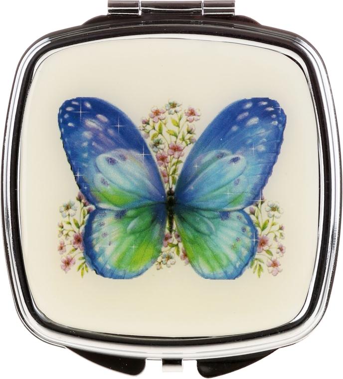 """Oglindă cosmetică, """"Fluturi"""" 85437, albastră - Top Choice — Imagine N1"""