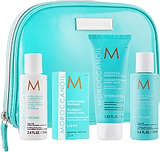 "Parfumuri și produse cosmetice Set ""Volum"" - MoroccanOil (shm/70ml + cond/70ml + mask/75ml + oil/25ml + bag)"