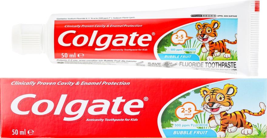 Pastă de dinți pentru copii, 2-3 ani - Colgate Toddler Bubble Fruit Anticavity Toothpaste For 2-5 Years Kids — Imagine N1