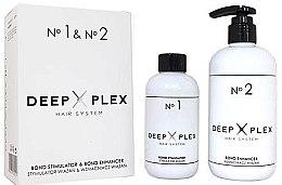 Parfumuri și produse cosmetice Sistem de protecție și restaurare a părului - Stapiz Deep Plex System No.1 & No.2 Set (hair/emulsion/150ml+hair/emulsion/290ml)