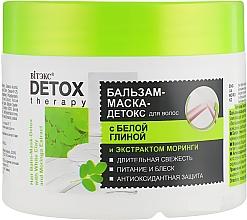 Parfumuri și produse cosmetice Balsam -mască-detox pentru păr, cu argilă albă și extract de moringa - Vitex Detox Therapy