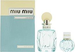Parfumuri și produse cosmetice Miu Miu L'Eau Bleue - Set (edp/100ml + edp/20ml)