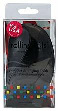 Parfumuri și produse cosmetice Perie de păr, compactă, neagră - Rolling Hills Compact Detangling Brush Black