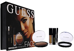 Parfumuri și produse cosmetice Set - Guess Beauty Face Lookbook Beauty 101 Bronze (lipstick/4.1ml + eye/sh/7g + mascara/4ml + eyeliner/0.5g)