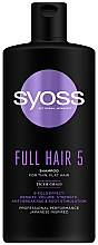 Parfumuri și produse cosmetice Șampon cu iarbă tigru pentru păr fin, fără volum - Syoss Full Hair 5 Shampoo